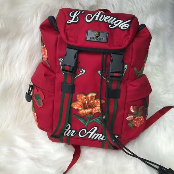 22969b5abbb BRAND NEW GUCCI TECHPACK BACKPACK WITH EMBROIDERY